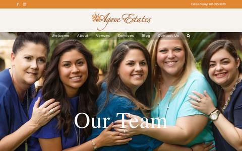 Screenshot of Team Page agaveestates.com - Our Team – Agave Estates – Wedding Reception Venues Houston & Katy TX | Outdoor Weddings & Corporate Events - captured May 29, 2017