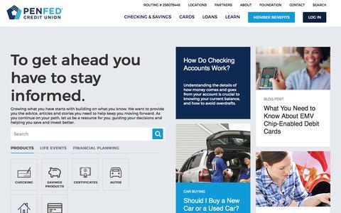 Screenshot of Blog penfed.org - Learning Center  | PenFed - captured July 20, 2017