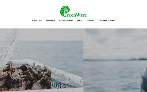 Screenshot of Home Page greenwave.org - GreenWave - captured July 24, 2018