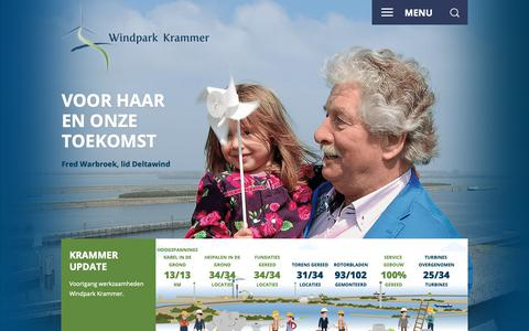 Screenshot of Home Page windparkkrammer.nl - Home - Windpark Krammer - captured Oct. 26, 2018