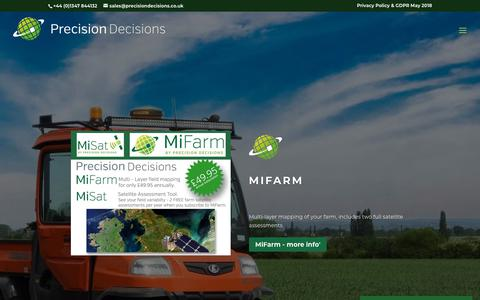 Screenshot of Home Page precisiondecisions.co.uk - Precision Decisions | Driving Farming Forwards - captured July 21, 2018
