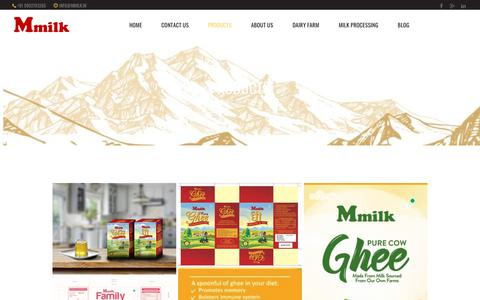 Screenshot of Products Page mmilk.in - Products - Mmilk - captured July 26, 2018