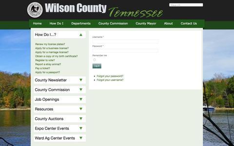 Screenshot of Login Page wilsoncountytn.gov - Wilson County Government - Login - captured Nov. 30, 2016