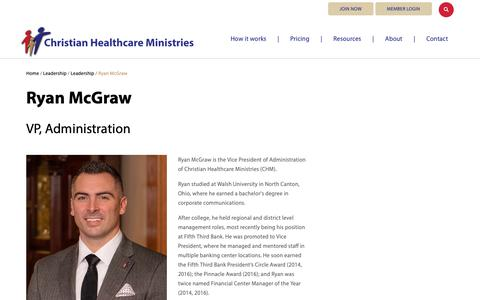 Screenshot of Team Page chministries.org - Ryan McGraw              | Christian Healthcare Ministries - captured May 16, 2019