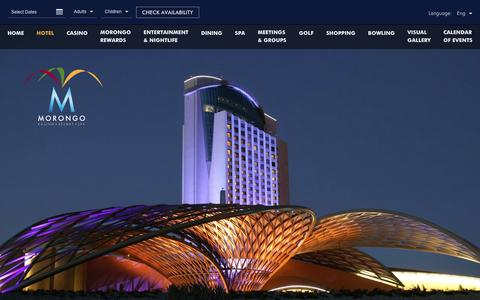 Screenshot of morongocasinoresort.com - Palm Desert Hotel Deal | Morongo Casino - captured April 1, 2016