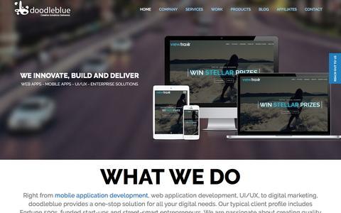 Screenshot of Home Page doodleblue.com - Mobile App Design and Development Company | doodleblue - captured Sept. 1, 2016