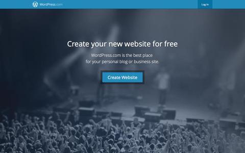 Screenshot of Home Page wordpress.com - WordPress.com: Create a free website or blog - captured Dec. 16, 2015