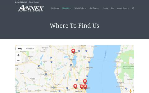 Screenshot of Locations Page annexwealth.com - Locations - Annex Wealth Management - captured Oct. 3, 2018