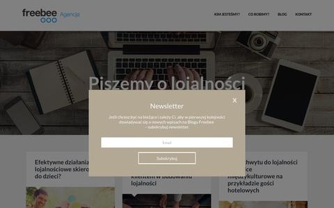 Screenshot of Blog freebee.pl - Blog Freebee - Poznaj świat Klientów - captured Sept. 5, 2016
