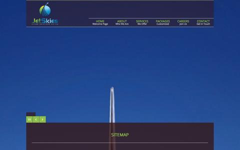 Screenshot of Site Map Page jetskies.co - Sitemap | JetSkies Flying Solutions Pvt. Ltd. - captured Oct. 6, 2014