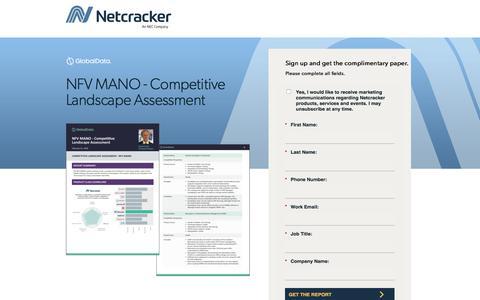 Screenshot of Landing Page netcracker.com - NFV MANO - Competitive Landscape Assessment - captured Oct. 5, 2019