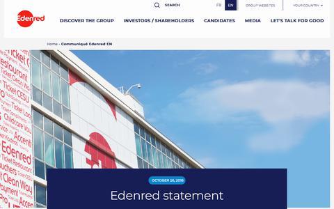 Screenshot of Press Page edenred.com - Communiqué Edenred EN   Edenred - captured July 8, 2019