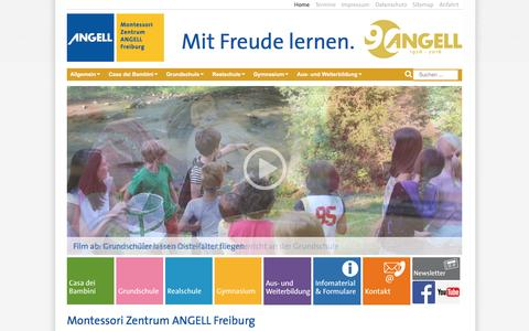 Screenshot of Home Page angell-montessori.de - Home - Montessori Zentrum ANGELL Freiburg - captured June 10, 2016