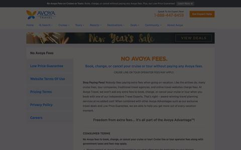 Screenshot of Privacy Page Jobs Page avoyatravel.com - About Avoya - The Avoya Difference - Beyond The Web - captured Dec. 27, 2015