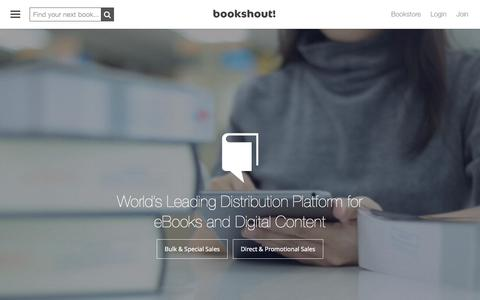 Screenshot of Home Page bookshout.com - BookShout | Leader in Bulk & Digital eBook Sales - captured Oct. 14, 2015