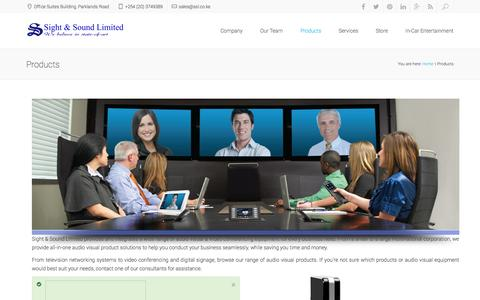 Screenshot of Products Page ssl.co.ke - Products : ssl - captured Nov. 5, 2014