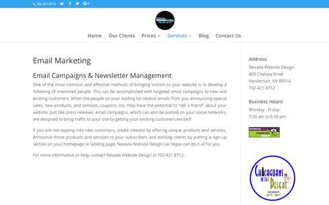 Email Marketing | Nevada Website Design | Henderson | Las Vegas