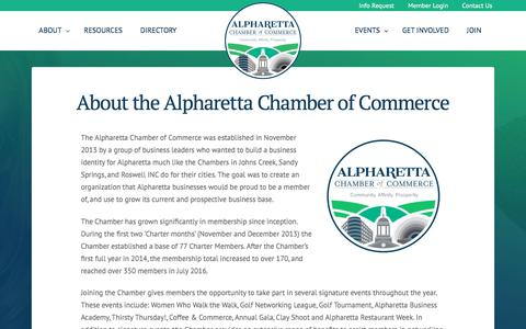 Screenshot of About Page alpharettachamber.com - About the Alpharetta Chamber of Commerce - Alpharetta Chamber of Commerce - captured Oct. 8, 2017