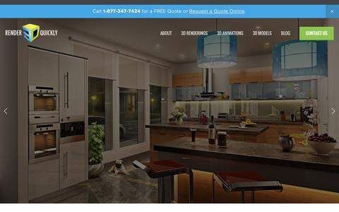 Screenshot of Home Page render3dquickly.com - Render 3D Quickly - captured Dec. 16, 2015