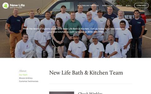 Screenshot of Team Page newlifehi.com - Meet Our Team | New Life Bath & Kitchen — Kitchen & Bathroom Remodeling | New Life Bath & Kitchen - captured Feb. 14, 2016