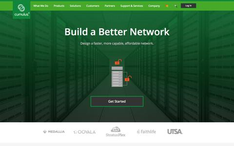 Screenshot of Home Page cumulusnetworks.com - Cumulus Networks   Cumulus Linux - captured Nov. 10, 2015