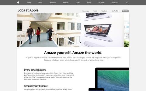 Screenshot of Jobs Page apple.com - Apple - Jobs at Apple - captured Oct. 10, 2014