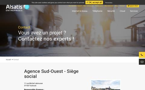 Screenshot of Contact Page alsatis-entreprises.com - Alsatis Entreprises : contacts - captured Aug. 20, 2019