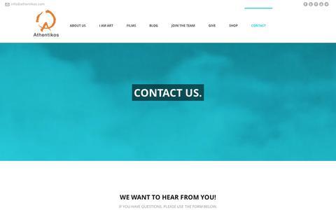 Screenshot of Contact Page athentikos.com - Contact - Athentikos - captured Oct. 29, 2014