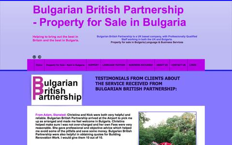 Screenshot of Testimonials Page bulgarianbritishpartnership.co.uk - Testimonials for Bulgarian British Partnership - captured July 30, 2016
