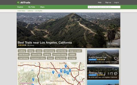Screenshot of alltrails.com - Best Trails near Los Angeles, California  | AllTrails.com - captured Sept. 21, 2016