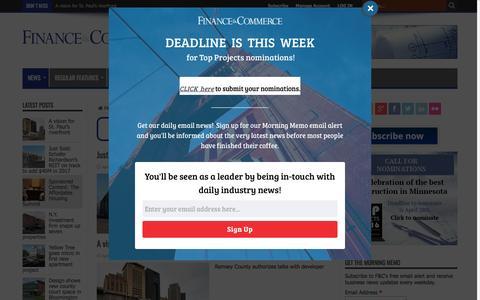Screenshot of Press Page finance-commerce.com - News – Finance & Commerce - captured April 19, 2017