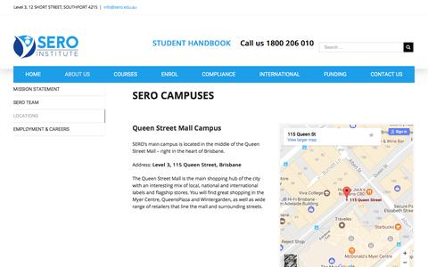 Screenshot of Locations Page serolearning.com.au - LOCATIONS – SERO Institute - captured May 11, 2017