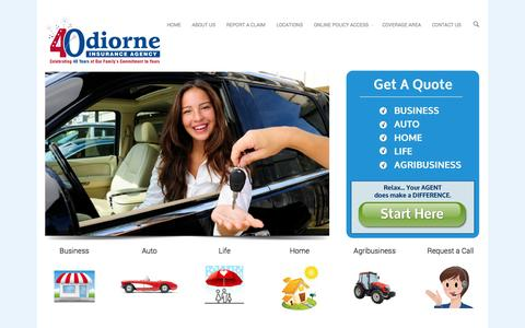 Screenshot of About Page Locations Page odiorneinsurance.com - Insurance Brandon FL | Odiorne Insurance Call 813-685-7731 for a fast quote - captured Nov. 4, 2014