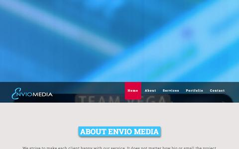 Screenshot of Home Page enviomedia.com - Welcome To Envio Media Not Just Web Sites - captured Sept. 30, 2014