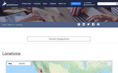 Screenshot of Locations Page intertech.com - Intertech - Location - captured Sept. 19, 2018