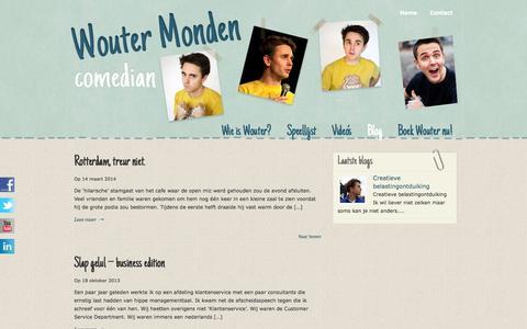 Screenshot of Blog woutermonden.nl - Blog «  Wouter Monden – Comedian - captured Sept. 30, 2014