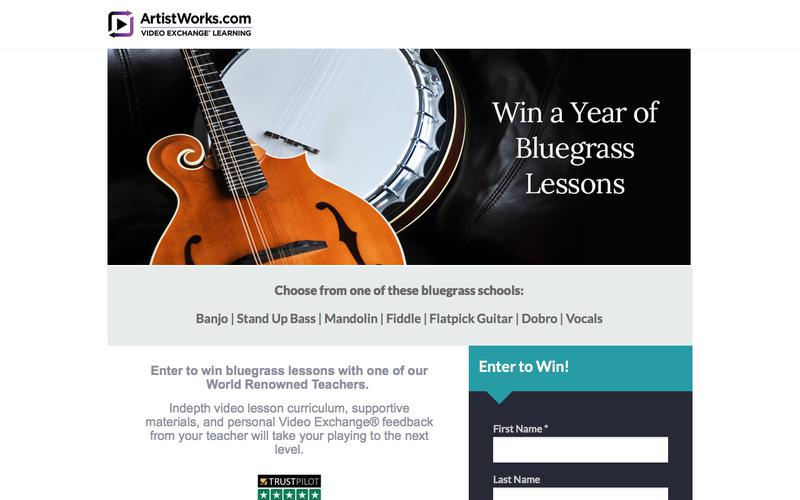 Win a year of FREE bluegrass lessons at ArtistWorks!