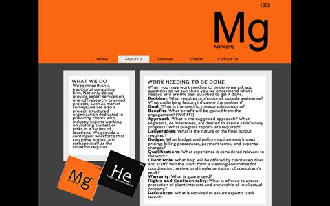 Screenshot of About Page mg-help.com - MGHELPLLC | About Us - captured Oct. 18, 2018