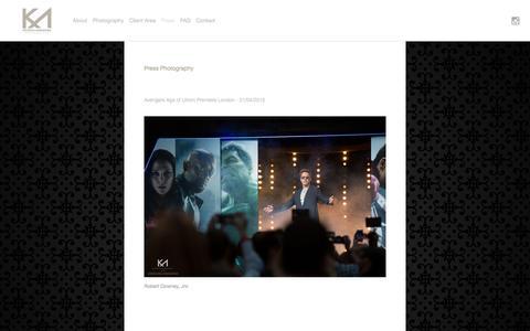 Screenshot of Press Page kmakwanaphotography.com - Press Photography Ń K Makwana Photography - captured Dec. 10, 2015