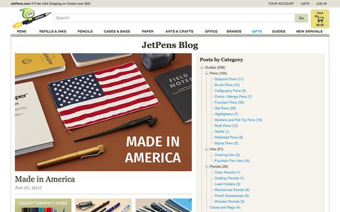 Screenshot of Blog jetpens.com - JetPens Blog - JetPens.com - captured June 27, 2017