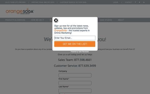 Screenshot of Contact Page orangesoda.com - Contact Us   OrangeSoda Local Online Marketing - captured Oct. 28, 2014