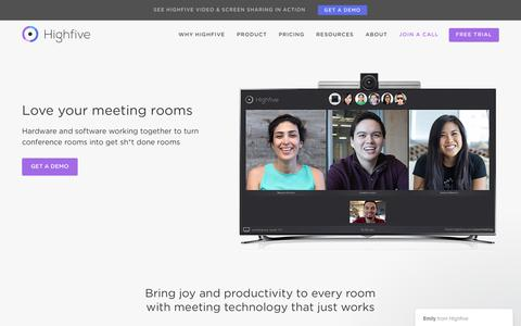 HD Video Conferencing & Meeting Room Collaboration - Highfive