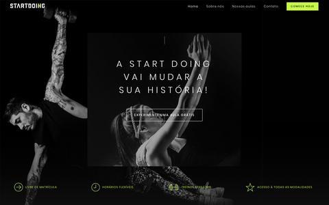 Screenshot of Home Page startdoing.com.br - Start Doing - captured Feb. 22, 2018