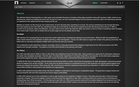 Screenshot of About Page ugcevents.com - About UGC - captured Nov. 3, 2014