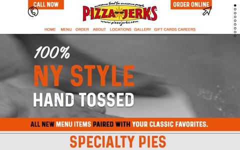 Screenshot of About Page Jobs Page Locations Page pizzajerks.com - Pizza Jerks | Lake George | Glens Falls - captured July 2, 2018