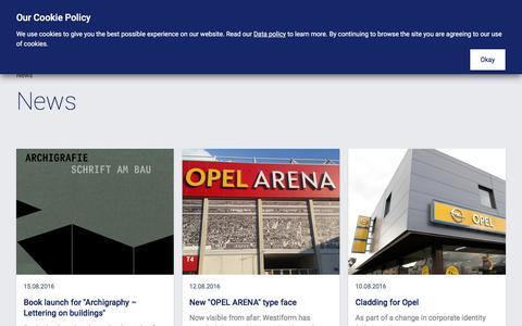 Screenshot of Press Page westiform.com - Westiform - Westiform - News - captured Nov. 29, 2016