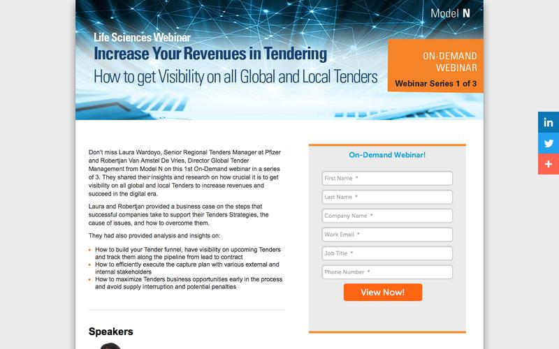 [On-Demand Webinar] Increasing Your Revenue in Tendering: How to get visibility on all Global and Local Tenders