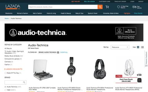 Buy Audio Technica Headphones | Earphones | Lazada