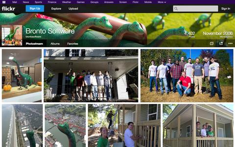 Screenshot of Flickr Page flickr.com - Flickr: brontosoftware's Photostream - captured Oct. 23, 2014