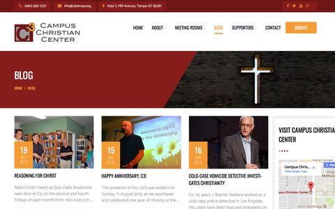 Screenshot of Blog c3tempe.org - Blog   Campus Christian Center - captured July 12, 2017